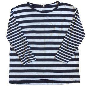 Gap Navy White Stripe Longsleeve Basic Tee Size L